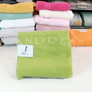 Pair of towels 1+1 jsupersoft GREEN color