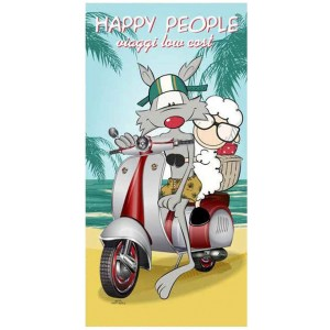 Telo Mare in ecofibra Happy People Vespa Special