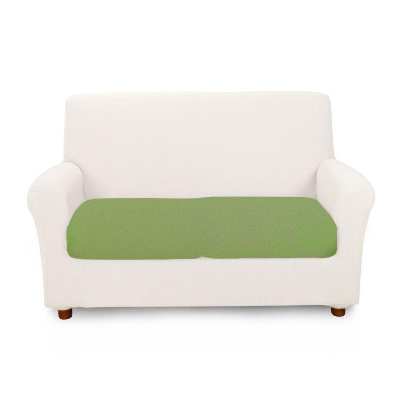 Copricuscino Elasticizzato 1 Posto Caleffi Melange' colore Verde
