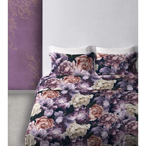 Completo lenzuola letto matrimoniale con federe Cogal Golden Age Purple