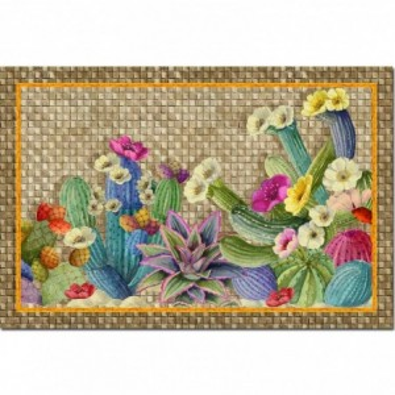 Tappetino da cucina Tessitura Toscana Kactus TipTap 52x80...