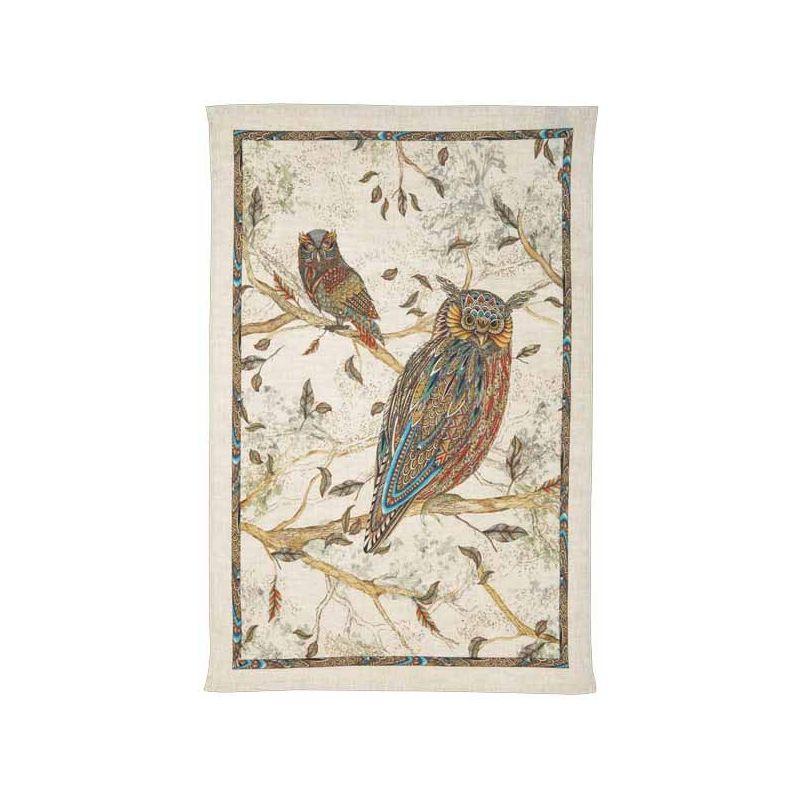 Strofinaccio in lino Tessitura Toscana Chiu Gufo 50x70 cm...