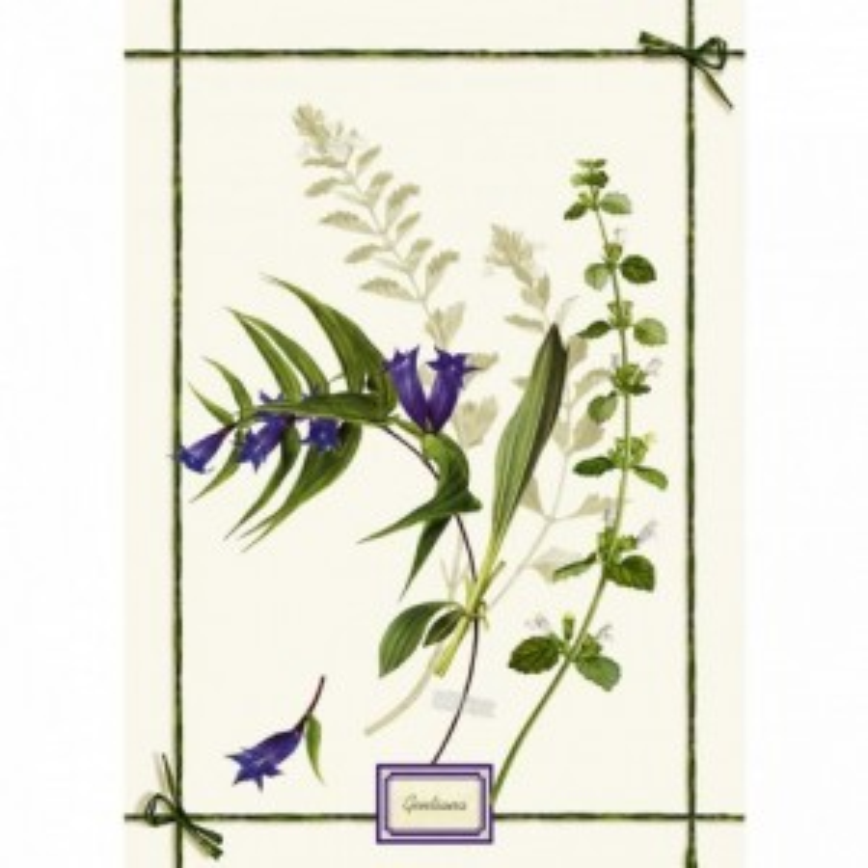 Strofinaccio Fragrance - Genziana Lino Cm. 50X 70