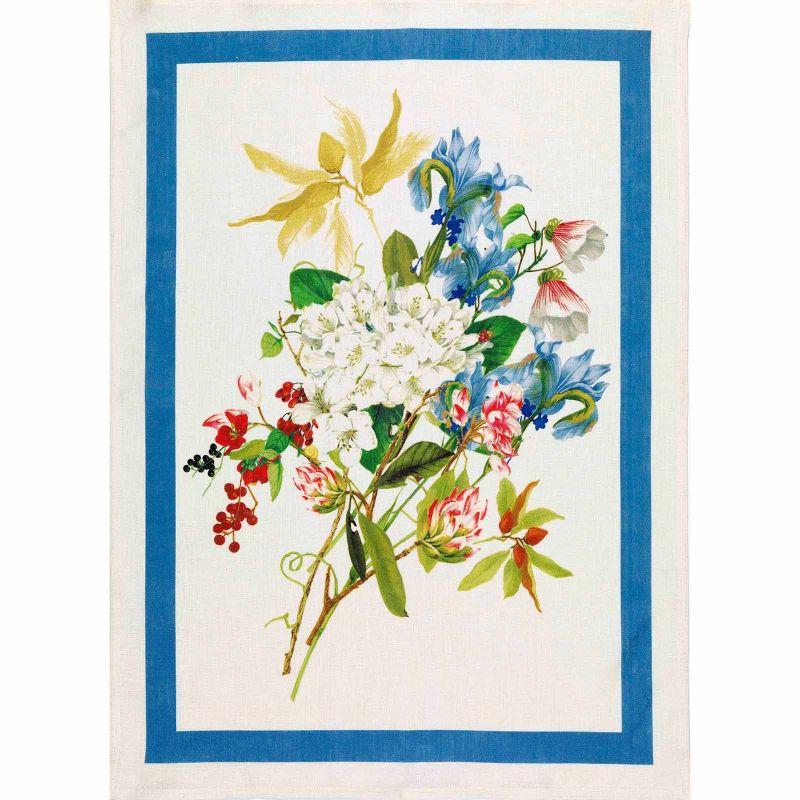 Strofinaccio Ibisco Azzurro Lino Cm. 50X 70