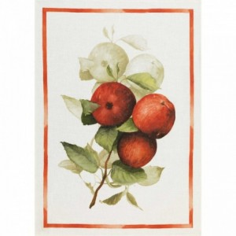 Calvados cloth - Apples Flax Cm. 50X 70