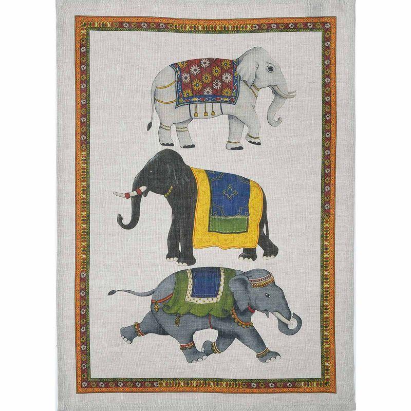Strofinaccio Barnum-Elefanti Lino Cm. 50X 70