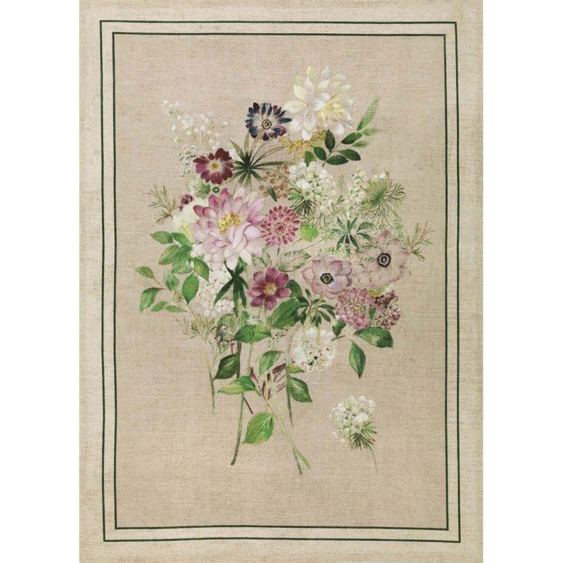 Strofinaccio La Vie En Rose Verde Lino Cm. 50X 70