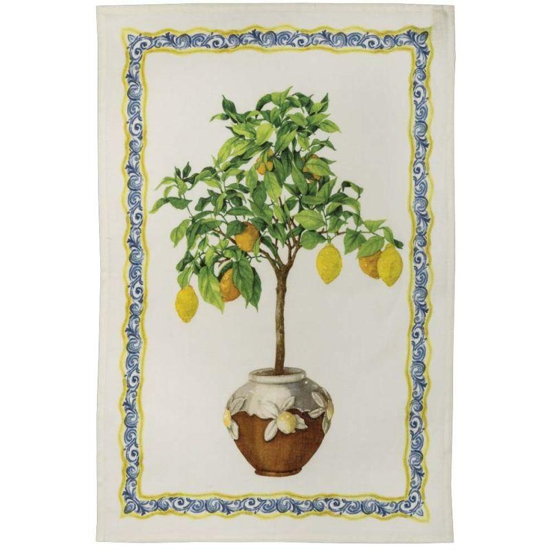 Strofinaccio Limonaia Decoro Crema Cm. 50X 70