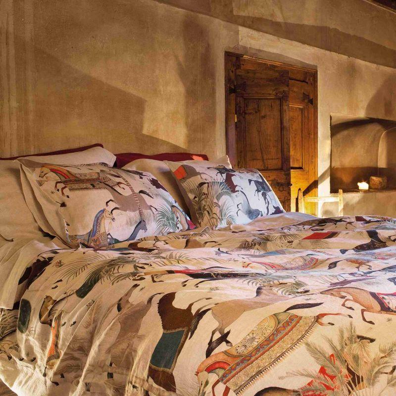 Set Lenzuola 2 Piazze Sultana Lino Cm.250X290