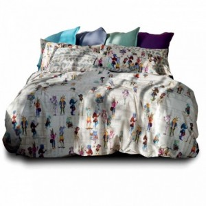 Set Lenzuola 1 Piazza Hipster Naturale Cm.160X290
