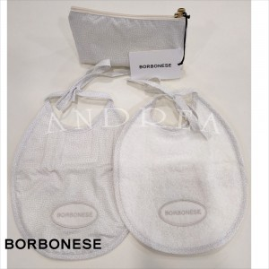 copy of Trousse + 2 Bavaglini Borbonese Kids col. Perla