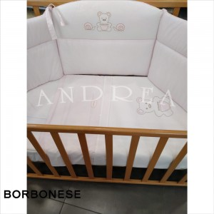 Paracolpi lettino OP Borbonese Kids Rosa