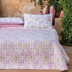 Quilt single bed quilt Riviera Wild Orchid Rosa