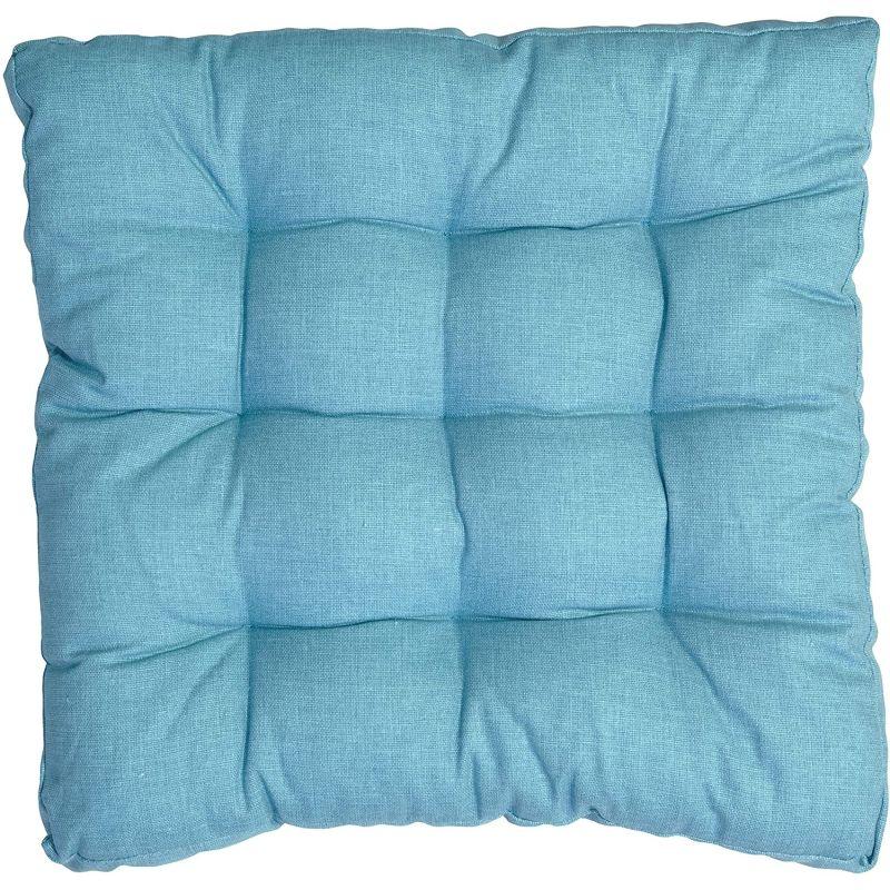 Cuscino per sedia Trapuntato Turchese 40X40 cm Morbiflex