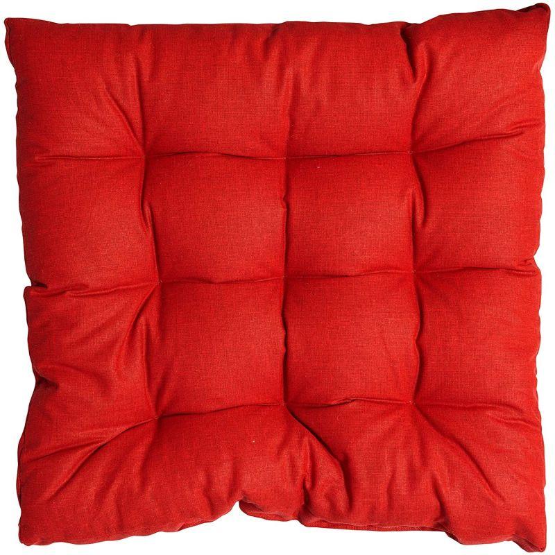Cuscino per sedia Trapuntato Rosso 40X40 cm Morbiflex