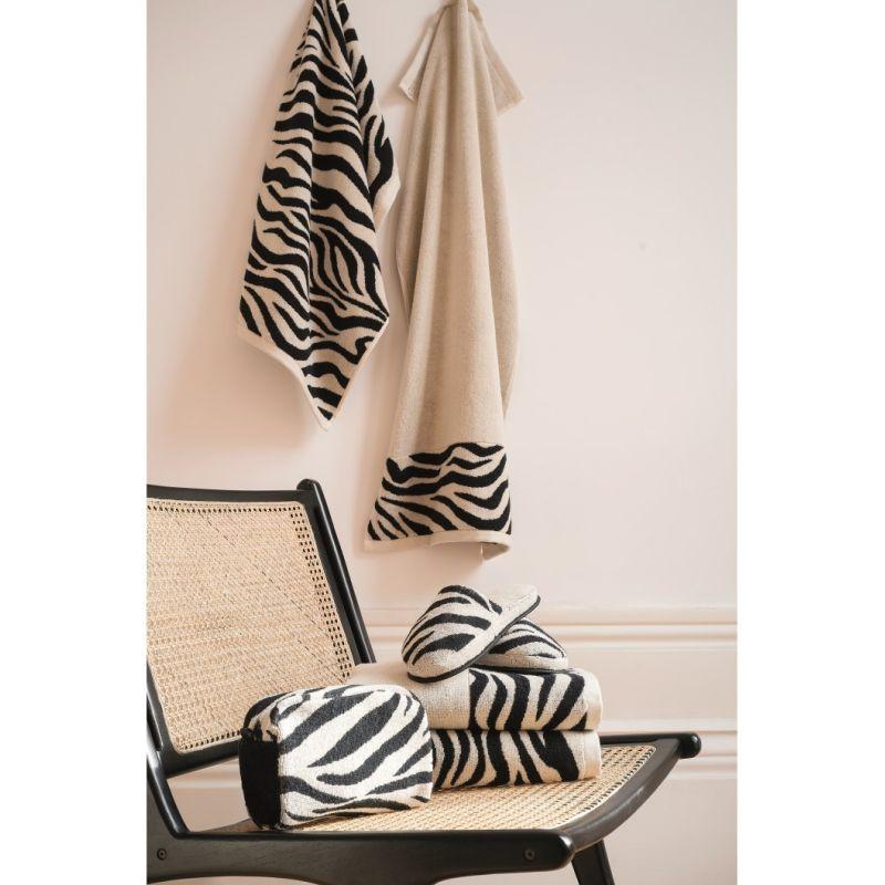 Trousse da bagno in spugna Lasa Home  Zebra ambientato