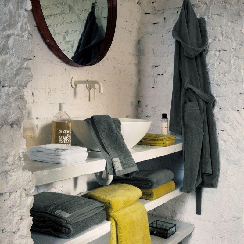 Coppia asciugamani bagno 1+1 Fazzini Coccola - Bianco