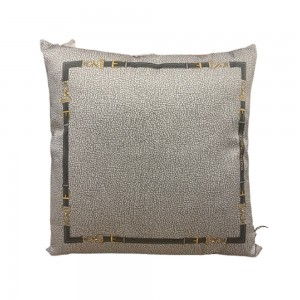Square Cushion with Borbonese Belt 45x45cm - color Gray Iron