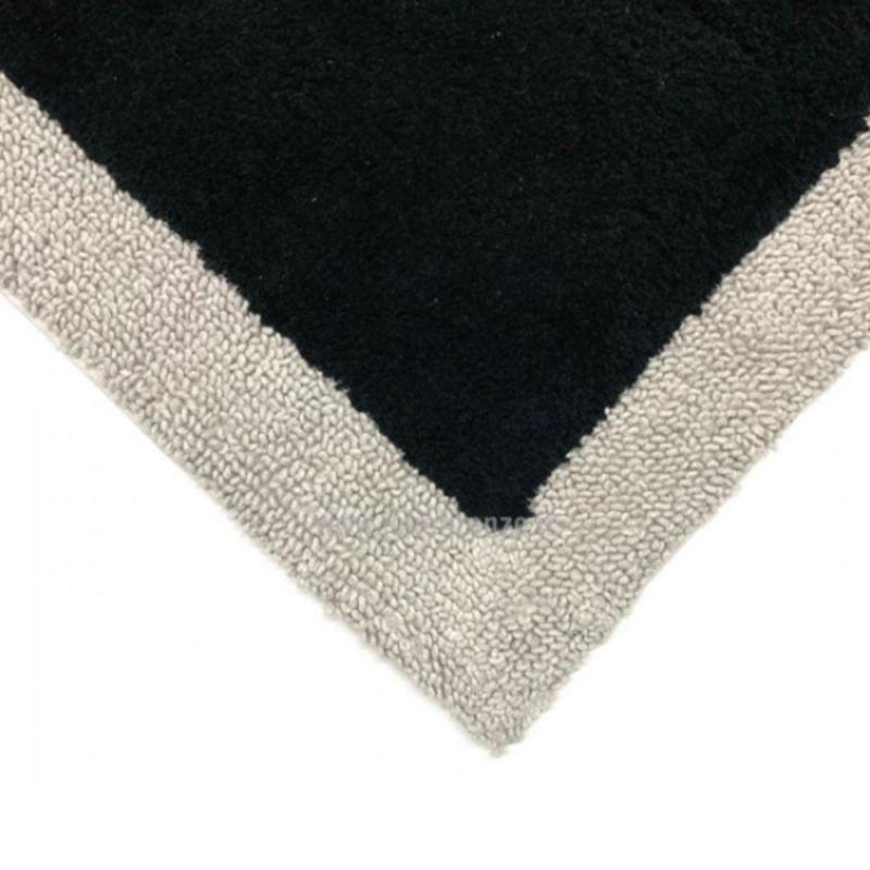 Tappeto Bagno Cavalieri Shade 60X90 cm colore Nero-Perla