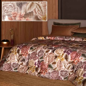 Double Quilt Carillo Reevèr Bouquet in Yellow / Cream color