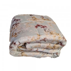 Quilt for Double Bed in velvet Riviera Flora color Forest...