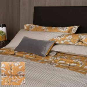 Sheet Set for Double bed Reeveer Calicanto in Mustard color