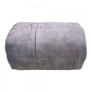 Quilt for Single bed Carillo Goodly velvet in Cloud Gray...