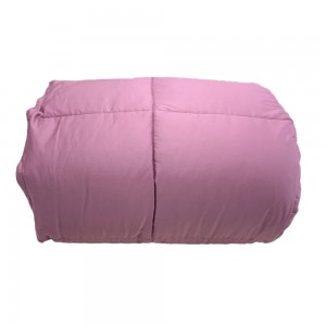 Hammerfest Intrico Double Feather Quilt in Mauve color