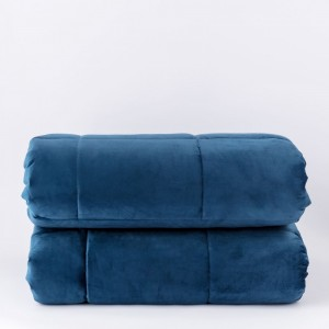 Quilt for Single Bed Carillo Velor in Blue color