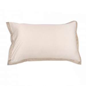 Pair of Pillowcases Borbonese Minimal in Rope color