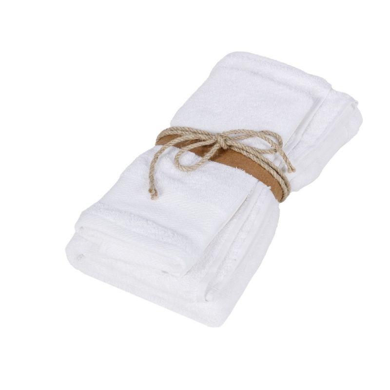 Coppia asciugamani ospite + asciugamano Fazzini Losanghe colore Bianco