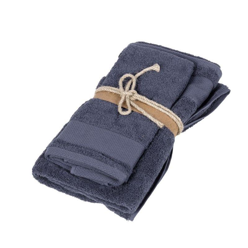 Coppia asciugamani ospite + asciugamano Fazzini Losanghe colore Quetzal