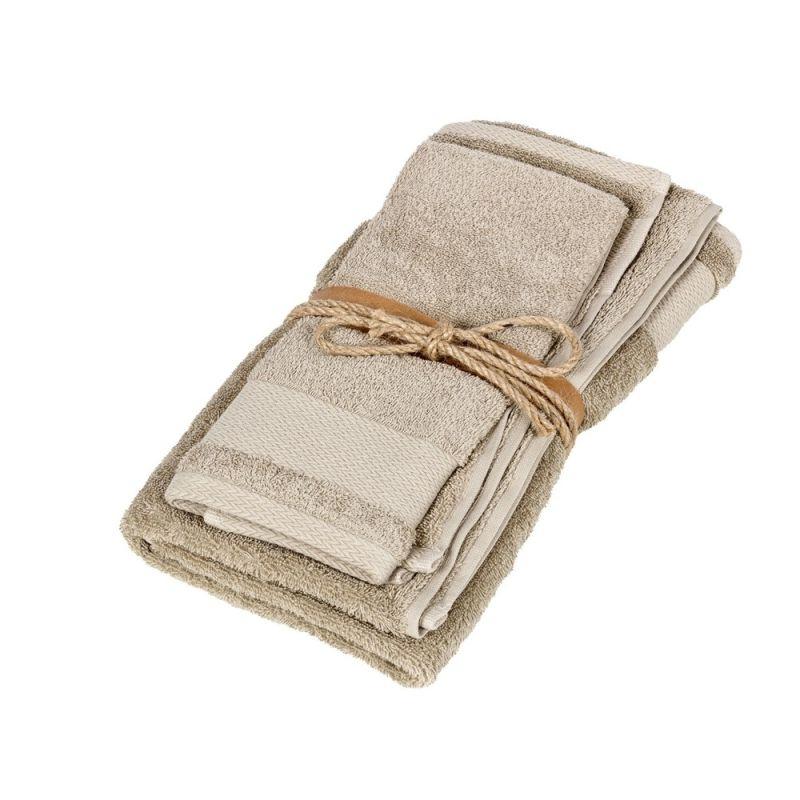 Coppia asciugamani ospite + asciugamano Fazzini Losanghe colore Corda