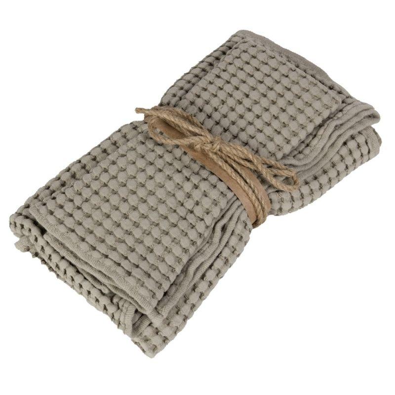 Coppia asciugamani ospite + asciugamano Fazzini Nettare colore Corda