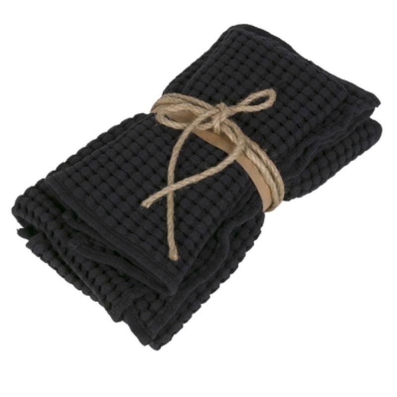 Coppia asciugamani ospite + asciugamano Fazzini Nettare colore Nero