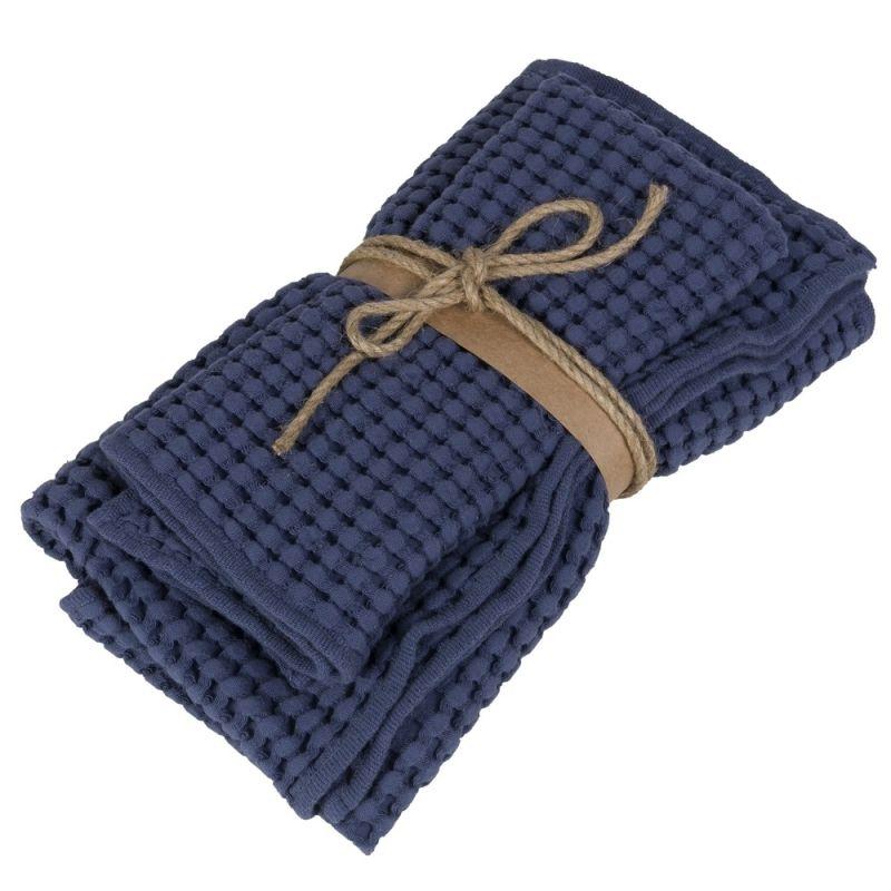 Coppia asciugamani ospite + asciugamano Fazzini Nettare colore Quetzal