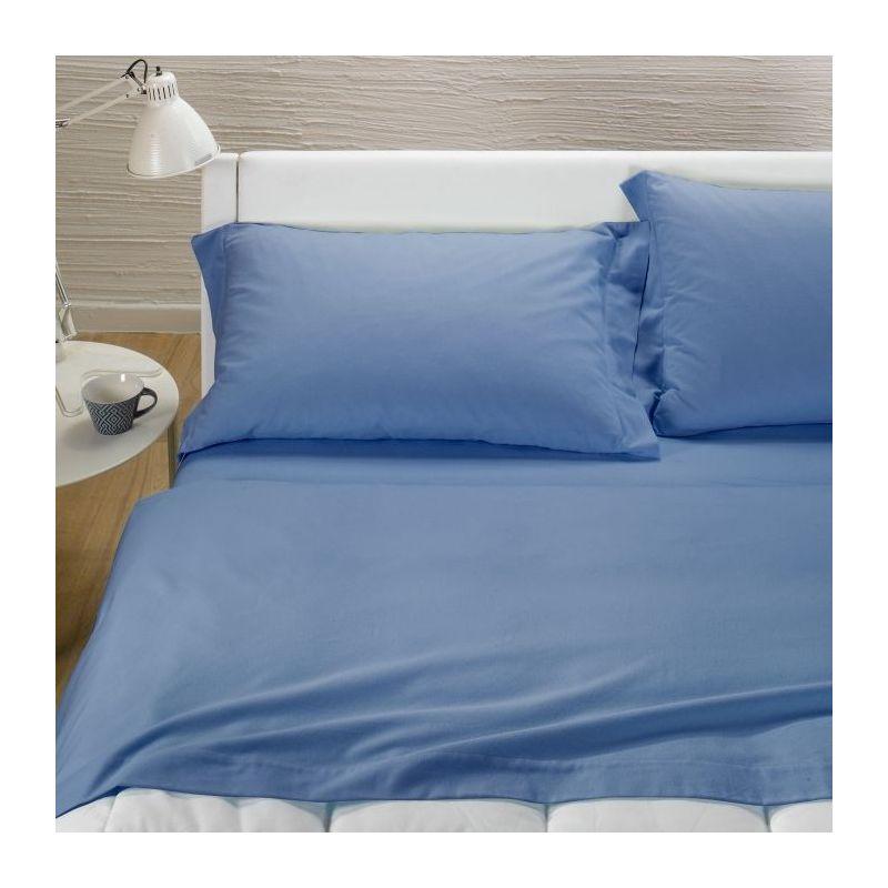Lenzuolo Caleffi T.U.Flanella Sotto 1,5 Pz. Blu
